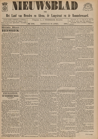 Nieuwsblad het land van Heusden en Altena de Langstraat en de Bommelerwaard 1900-04-28
