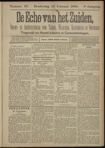 Echo van het Zuiden 1882-02-23