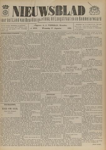 Nieuwsblad het land van Heusden en Altena de Langstraat en de Bommelerwaard 1921-08-17