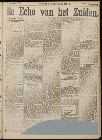 Echo van het Zuiden 1904-09-11