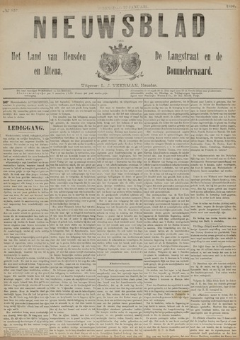 Nieuwsblad het land van Heusden en Altena de Langstraat en de Bommelerwaard 1890-01-22