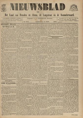 Nieuwsblad het land van Heusden en Altena de Langstraat en de Bommelerwaard 1902-11-15