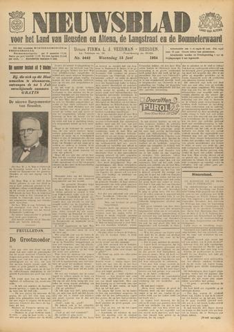 Nieuwsblad het land van Heusden en Altena de Langstraat en de Bommelerwaard 1934-06-13