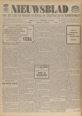 Nieuwsblad het land van Heusden en Altena de Langstraat en de Bommelerwaard 1919-02-01