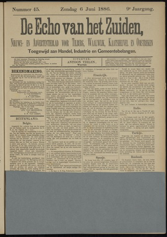 Echo van het Zuiden 1886-06-06