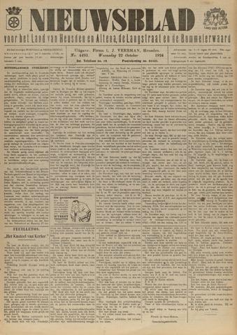 Nieuwsblad het land van Heusden en Altena de Langstraat en de Bommelerwaard 1924-10-22