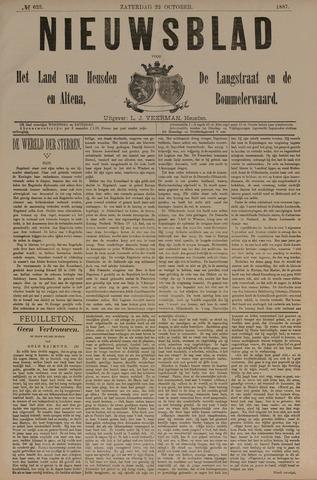 Nieuwsblad het land van Heusden en Altena de Langstraat en de Bommelerwaard 1887-10-22