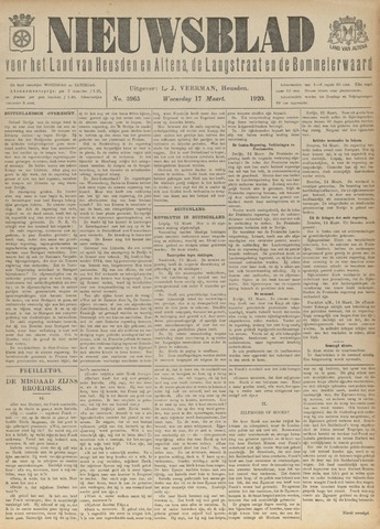 Nieuwsblad het land van Heusden en Altena de Langstraat en de Bommelerwaard 1920-03-17