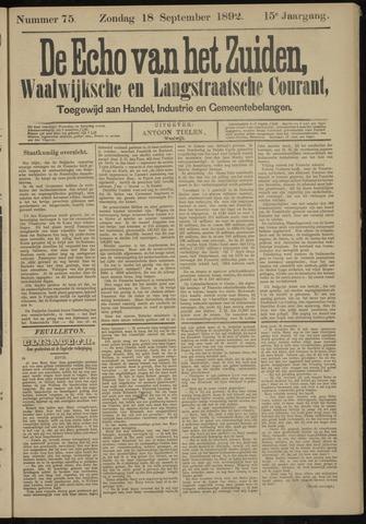 Echo van het Zuiden 1892-09-18