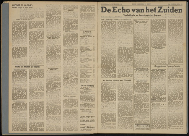 Echo van het Zuiden 1947-11-06