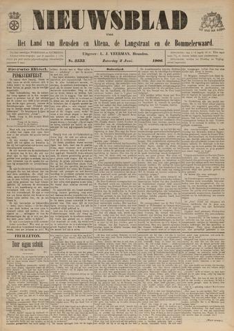 Nieuwsblad het land van Heusden en Altena de Langstraat en de Bommelerwaard 1906-06-02