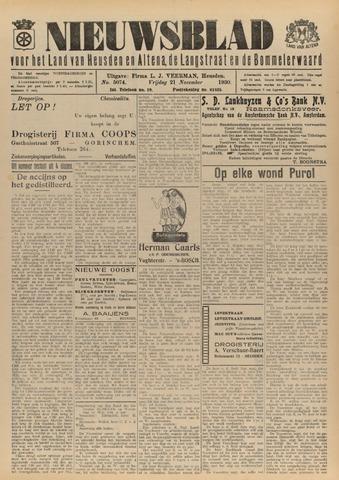 Nieuwsblad het land van Heusden en Altena de Langstraat en de Bommelerwaard 1930-11-21