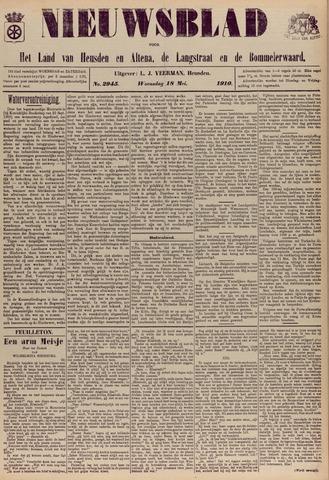 Nieuwsblad het land van Heusden en Altena de Langstraat en de Bommelerwaard 1910-05-18