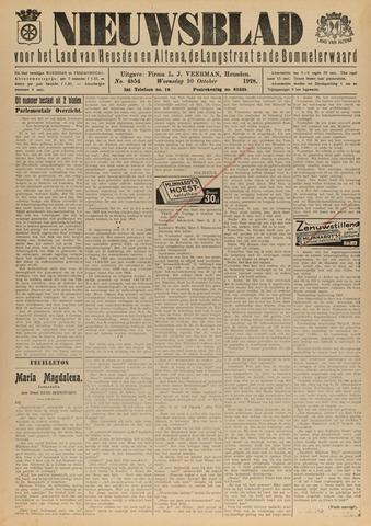 Nieuwsblad het land van Heusden en Altena de Langstraat en de Bommelerwaard 1928-10-10