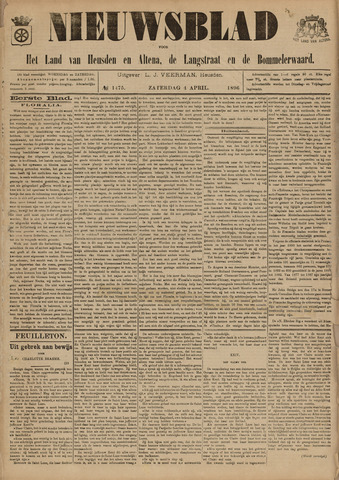 Nieuwsblad het land van Heusden en Altena de Langstraat en de Bommelerwaard 1896-04-04