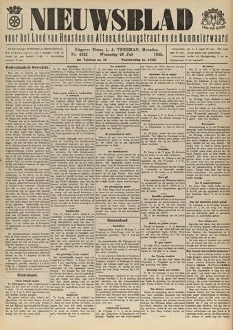 Nieuwsblad het land van Heusden en Altena de Langstraat en de Bommelerwaard 1925-07-29