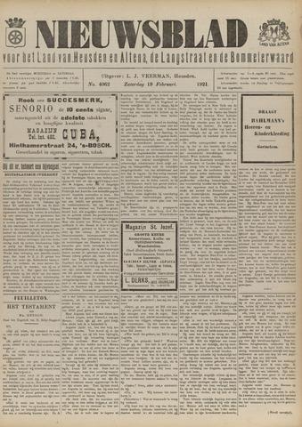 Nieuwsblad het land van Heusden en Altena de Langstraat en de Bommelerwaard 1921-02-19