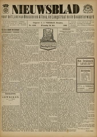 Nieuwsblad het land van Heusden en Altena de Langstraat en de Bommelerwaard 1922-05-24