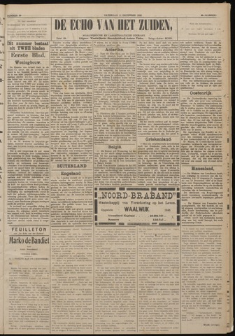 Echo van het Zuiden 1920-12-09