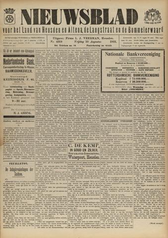 Nieuwsblad het land van Heusden en Altena de Langstraat en de Bommelerwaard 1923-08-10