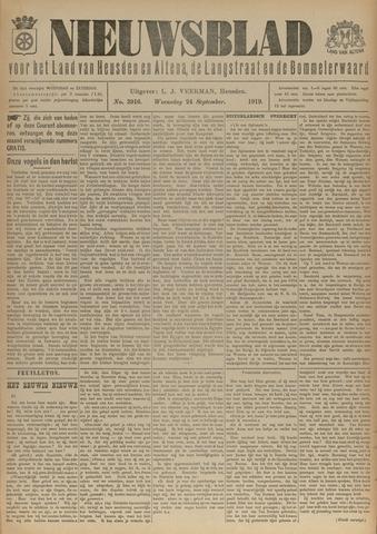 Nieuwsblad het land van Heusden en Altena de Langstraat en de Bommelerwaard 1919-09-24
