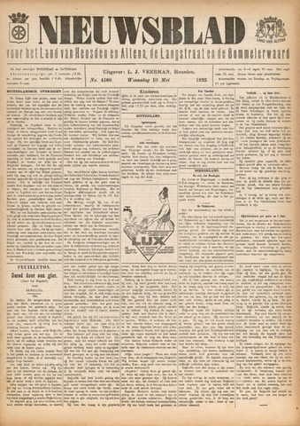 Nieuwsblad het land van Heusden en Altena de Langstraat en de Bommelerwaard 1922-05-10