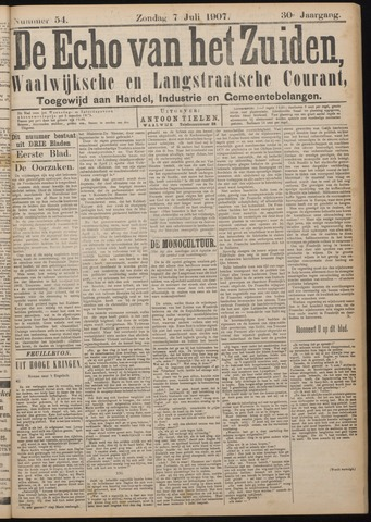 Echo van het Zuiden 1907-07-07