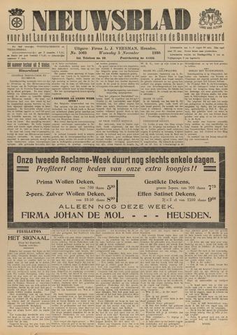 Nieuwsblad het land van Heusden en Altena de Langstraat en de Bommelerwaard 1930-11-05