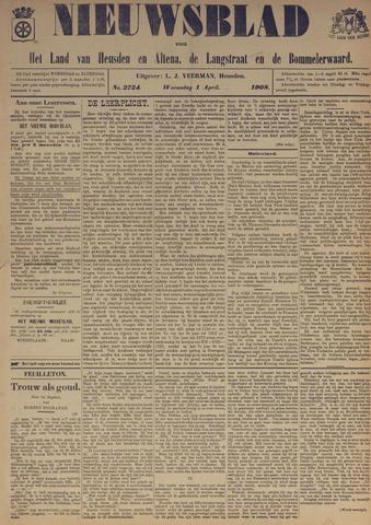 Nieuwsblad het land van Heusden en Altena de Langstraat en de Bommelerwaard 1908-04-01