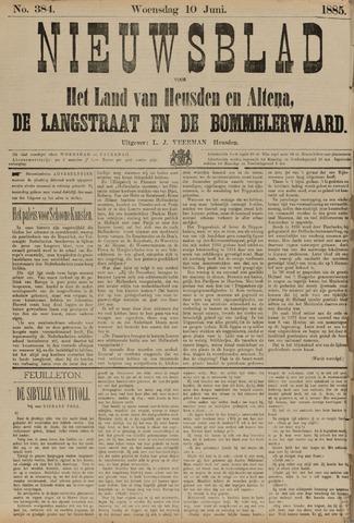 Nieuwsblad het land van Heusden en Altena de Langstraat en de Bommelerwaard 1885-06-10