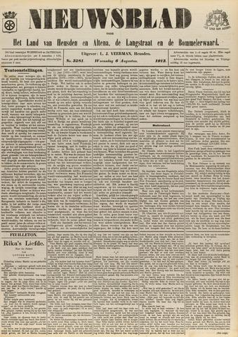 Nieuwsblad het land van Heusden en Altena de Langstraat en de Bommelerwaard 1913-08-06
