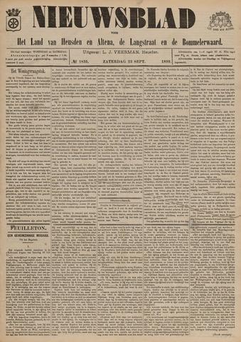 Nieuwsblad het land van Heusden en Altena de Langstraat en de Bommelerwaard 1899-09-23