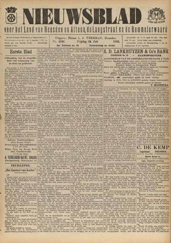 Nieuwsblad het land van Heusden en Altena de Langstraat en de Bommelerwaard 1925-07-24