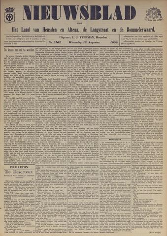 Nieuwsblad het land van Heusden en Altena de Langstraat en de Bommelerwaard 1908-08-12