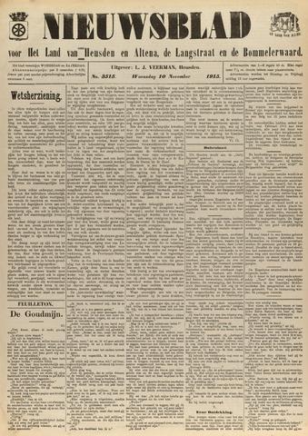 Nieuwsblad het land van Heusden en Altena de Langstraat en de Bommelerwaard 1915-11-10