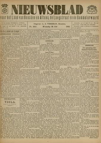 Nieuwsblad het land van Heusden en Altena de Langstraat en de Bommelerwaard 1922-07-26