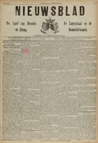 Nieuwsblad het land van Heusden en Altena de Langstraat en de Bommelerwaard 1890-11-01