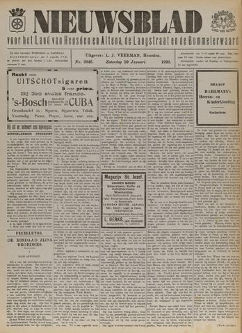 Nieuwsblad het land van Heusden en Altena de Langstraat en de Bommelerwaard 1920-01-10