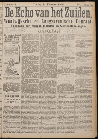 Echo van het Zuiden 1909-02-14