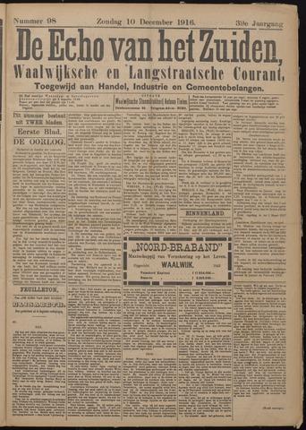 Echo van het Zuiden 1916-12-10