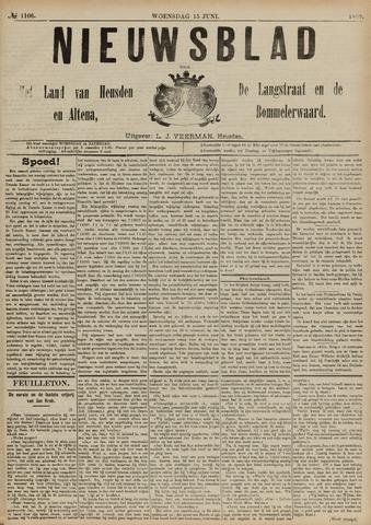 Nieuwsblad het land van Heusden en Altena de Langstraat en de Bommelerwaard 1892-06-15