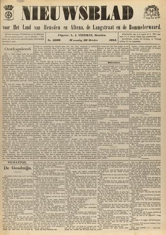 Nieuwsblad het land van Heusden en Altena de Langstraat en de Bommelerwaard 1915-10-20