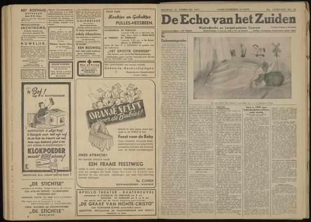 Echo van het Zuiden 1947-02-25