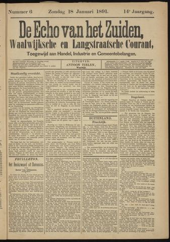 Echo van het Zuiden 1891-01-18