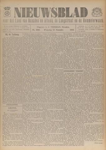 Nieuwsblad het land van Heusden en Altena de Langstraat en de Bommelerwaard 1918-11-13