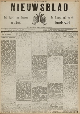 Nieuwsblad het land van Heusden en Altena de Langstraat en de Bommelerwaard 1890-05-24