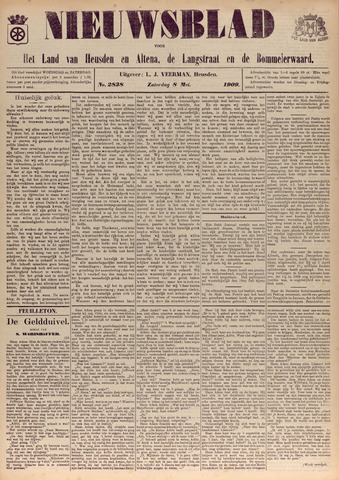 Nieuwsblad het land van Heusden en Altena de Langstraat en de Bommelerwaard 1909-05-08