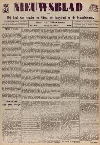 Nieuwsblad het land van Heusden en Altena de Langstraat en de Bommelerwaard 1910-03-12