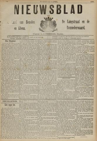 Nieuwsblad het land van Heusden en Altena de Langstraat en de Bommelerwaard 1891-04-01