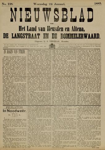 Nieuwsblad het land van Heusden en Altena de Langstraat en de Bommelerwaard 1883-01-24